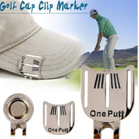 Wholesale professional magnets for sale - Group buy Golf Cap Clip Marker with Cap Clip Golf Ball Aiming Marker Alloy Professional Golf Training Kits Magnet Clip chrome coating ayq