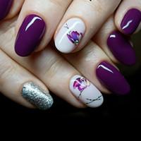 ingrosso adesivi a prua-1sheets caldo dell'arco di farfalla disegni luminosi Nail Art Shinning di scintillio delle decorazioni degli autoadesivi di arte del manicure Suggerimenti Strumenti Trdg-007