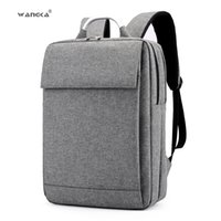 Wholesale business backpack notebook resale online - WANGKA Fashion Business Men s Laptop Canvas Backpack for inch School Notebook Bags Women Waterproof Travel RucksackMX190903
