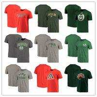 jeux gratuits d'été achat en gros de-Colorado State Rams 2018 Logo Spécial Jeu À Manches Courtes Logo D'École Logo T-Shir Mode Eté Col Rond Tee shirt livraison gratuite