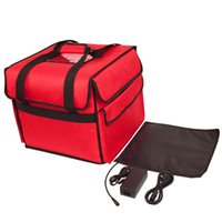 12V pizza insulation package thermostat heated suitcase Ice pack travel takeaway box lunch bag food delivery outdoor handbag waterproof