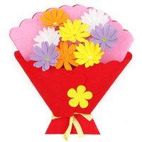 kurdele el işleri toptan satış-Diy El Sanatları İpek Kurdele El Düzenlenen Buket Çocuk Manuel Yapmak Saksı Bitki Malzeme Paketi Alpinia Simülasyon Çiçek Hediye 2 2mdb1