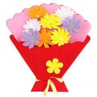 ingrosso fare il bouquet di fiori-Fai da te Artigianato Nastro di seta Tenuto in mano Bouquet Manuale per bambini Fai in vaso Materiale per piante Pacchetto Alpinia Simulation Flower Gift 2 2mdb1