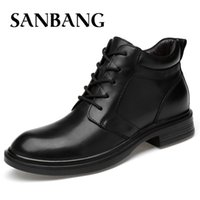 Wholesale handmade dress shoes for men resale online - New Handmade Men Genuine Leather Winter Boots High Quality Snow Men Boots Ankle For Business Dress Shoes dx5