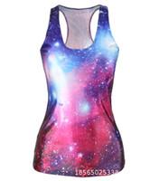 neue sexy heiße damefrauen großhandel-Hot 3D Digital Printed Stretch Damen Tanks Mode Sexy Damen H Weste Schädel Universum Neue Ankunft