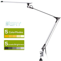Wholesale modern swing arm for sale - Group buy led Desk Lamp Swing Arm Task Lamp with Clamp Eye care Dimmable Office Light with Touch Control Memory Functio Metal Architect10w