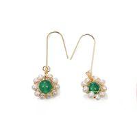 blüten süßwasserperlen großhandel-Handgefertigte 925 Silber Mode Süßwasser Perle Tropfen Blumen Ohrringe Threader Ohrringe Für Valentinstag Edlen Schmuck