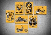 знаки для мотоциклов оптовых-Новый Знак Олова Желтый Визуальный Влияние Sexy Vintage 20 * 30 см Металлическая Краска Знак Олова Бар Паб Декоративные Красоты И Мотоциклов Украшения Стены