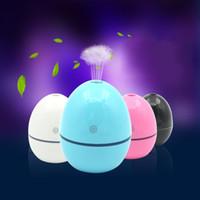 umidificador de ovos de ultra-som venda por atacado-Tipo de ovo Umidificadores USB Mini Multi Cores Atomizador Veículo Branco Azul Preto Mudo Ultrasonic Umidificador Nova Chegada 22kl L1