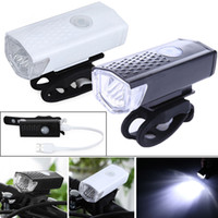 Wholesale bike light headlamp online - 300 LM Super Bright LED Bike Light Cycling Headlamp Mode USB Rechargeable LED colors LJJZ20