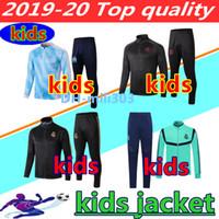 ingrosso chiusura lampo dei ragazzi-2019 2020 Real Madrid bambini giacca lunga cerniera della tuta 19 20 Paris Mbappe OM Marsiglia BAMBINI RAGAZZI giacca calcio tuta CHANDAL