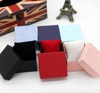 papier bijoux oreiller boîte achat en gros de-Watch Box Storage Case Affichage Bijoux Cadeaux Emballage De La Mode boîtes de montre caisse de montre carrée en papier avec boîte à bijoux oreiller Moins cher