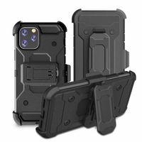 cubierta de clip de cinturón iphone 5s al por mayor-Cinturón híbrido resistente a los golpes Clip Funda cubierta de armadura Defender para el iPhone Pro Max 11 11 XS Max XR 8 7 6 Plus 5S