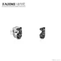 925 silberbär großhandel-FAHMI 100% 925 Sterling Silber Cute Bear Ohrringe Intarsien Zirkonia Einfache Wunderschöne Frauen Original Schmuck Geschenk Empfohlen 614933520