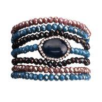 21ca4e24a1f9 joyas de moda con facetas al por mayor-Mixed Blue Black Brow Sparkling  Crystal Seven