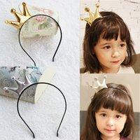 saç şimmerleri toptan satış-Kız Taç Saç Sopa Bebek Stereoskopik Saç Çember Madeni Pul Çocuk Düz Renk Şapkalar Pırıltılı Toz Bez 28