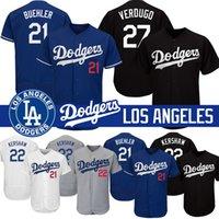 baseball jerseys großhandel-Los Angeles Cody Bellinger Dodgers Trikots Jackie Robinson 22 Clayton Kershaw 27 Alex Verdugo 21 Walker Buehler Felx Base