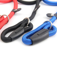 Wholesale dog slip collars resale online - Pet Dog Nylon Rope Training Leash Pet Animals Rope Slip Lead Strap Adjustable Traction Collar Supplies Accessories cm LXL655