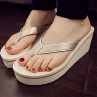 Wholesale korean canvas shoes for women for sale - Group buy Ladies Shoes Summer Sexy Flip Flops Women Sandals Bohemian Muffin Slope With Sandals Korean Style Slipper For Women Girls