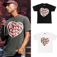печать лучших футболок оптовых-Новый Kanye West CP FM XYZ в форме сердца футболка Мужская футболка Лучшее качество Мужчины Женщины Пенопечать Уличная футболка