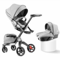 ver latas al por mayor-Absorbedor de carrito de bebé de vista alta Douxbebe plegable portátil puede sentarse en carrito de niño de bebé V3 stokk