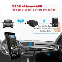 Wholesale fault codes for cars resale online - KW902 V12 ODB2 Mini Bluetooth Adapter Scanner for Android ODB Read Fault Code Car Diagnostic Scanner tool