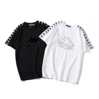 etiketten großhandel-Designer T-Shirts für Männer Damenmode Marke T-Shirt KAPPAS T-Shirts Qualität A + Baumwolle Herren Designer T-Shirt Brandneu mit Label