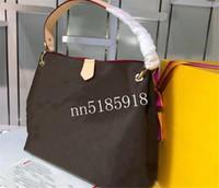 Wholesale beautiful leather lady handbags resale online - 2019 classic hot leather handbag shopping bag fashion trend price beautiful size CM