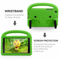 Wholesale kids ipad 10.2 case resale online - For Ipad th Generation Ipad Ipad Pro Round Corners Design Protection Kids Friendly Case Wristband
