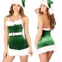 seksi şeytan cosplay toptan satış-Ücretsiz Kargo Yeni sexy lingerie cosplay Avrupa ve Amerikan Noel kostümleri Seksi Şeytan Kraliçe kraliçe'nin Çelik Giyim Yeşil Noel
