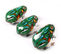 Wholesale wind up jumping toy frog resale online - Kids Classic Tin Wind Up Clockwork Toys Jumping Frog Vintage Toy For Children Boys Educational