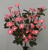 цветок свет окно украшение оптовых-Rose flower Бесплатная Доставка Аккумулятор 60 LED Blossom Rose Flower Branch Light в 20 \