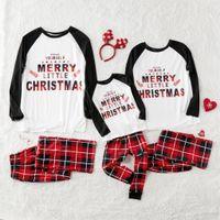 ropa de aspecto familiar al por mayor-Pijamas de Navidad a cuadros Ropa a juego familiar Trajes Look Ropa de dormir para padres, madres e hijos