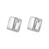 brincos clipe preto venda por atacado-EH382 Simples preto pequeno anel de ouvido feminino coreano temperamento orelha fivela personalidade ear ear CLIP earrings
