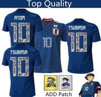 schriftarten zahlen großhandel-Japan-Fußball Jersey der Cartoonzahl Schriften 10 CARTOON NUMBER Jersey 18 19 Thailand Top-Qualität Fußball Uniform Trainingsanzug