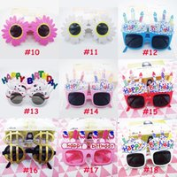 Wholesale birthday masks resale online - Children s Birthday Decoration Glasses Creative Happy Birthday Party Decoration Photo Prop Cake Shape Glasses Hot Sale XD23246