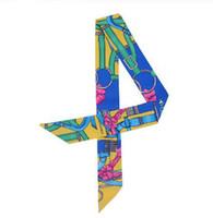 ingrosso sciarpe a catena-Sciarpa nuova alla moda con cintura a catena piccola sciarpa di seta per donna Borsa nastri Sciarpa testa di marca di moda Sciarpe lunghe floreali