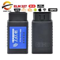Wholesale wifi bluetooth chip resale online - PIC18F25K80 Chip Super OBD2 ELM327 WIFI V1 Hardware Works Android iOS ELM Bluetooth Work Diesel elm327 usb mini