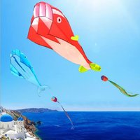 esporte ao ar livre pipa voando venda por atacado-New bonito enorme Outdoor Fun Sports Linha Software Whale Dolphin Kite Flying High Quality presente Drop Shipping