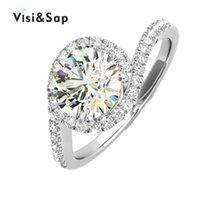 ingrosso grandi anelli di pietra-Eleple Large Round Stone Stone gioielli moda anelli Anelli per le donne Gioielli moda matrimonio bianco colore oro Dropshipper VSR226