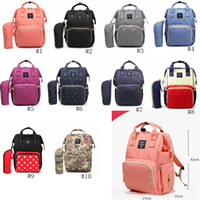 Wholesale diaper bag for sale - Group buy 10styles Mommy Backpack Nappies Diaper Bags Oxford Cloth Waterproof Maternity Backpacks Mother Handbags Outdoor Nursing Travel Bag GGA2179