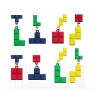 Wholesale square blocks toy resale online - Creative Contrast Color Paint Russia Square Earrings Dangle Geometry Toy Block Eardrop Ear Studs Earring Women Designer Jewelry Statement