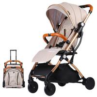 bebek arabaları puset toptan satış-Bebek Arabası katlanabilir bebek arabası araba Seyahat Pram oturabilir yalan Çocuk Çocuk Arabası ultra-hafif taşınabilir uçakta
