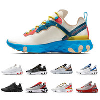 Wholesale tan tape resale online - Taped Seams Blue Soles React Element Upcoming Mens running shoes Tour Yellow Solar Grey Red Athletic sports men women Sneakers