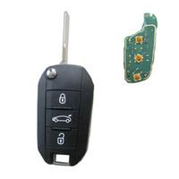 id46 chip peugeot venda por atacado-Botão Remoto 3 Botão para Peugeot 508 433 MHz com ID46 Chip Eletrônico dentro Lâmina Sem Cortes HU83
