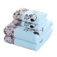 conjuntos de presente de toalha de bebê venda por atacado-Toalha de banho do bebê para crianças presente dos desenhos animados conjunto toalha personalizado LOGOTIPO microfibra toalha de banho do bebê