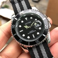 relógios de pulso preto genebra venda por atacado-Ocysa Marca Luxo Vakcak Preto NATO Strap Strap Quartz Negócio Homens Genebra geneva Assista Men Cheap Relógios Relógios de Pulso Relogio masculino 2019