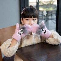 Lovely Feitong Fox Cartoon Hang Neck Children Gloves Winter Thicken Warm Chrismas Xmas Gift Invierno Mujer #4 Apparel Accessories