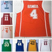 Wholesale clothes young men for sale - Discount Cheap buy fan clothing Basketball Jerseys Johnson Young Doncic BAMBA ALCINDOR HOWARD Basketball Wears online store
