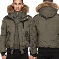ücretsiz dhl nakliye ceketi toptan satış-DHL Ücretsiz Nakliye Kanada Lüks Kış Sıcak Marka Giyim Ceketler Mac Harvey-F4 Kış Aşağı Bombacı Ceket Kalın erkek Aşağı Ceket erkekler için